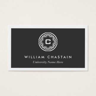 INITIAL LOGO for STUDENTS/UNIVERSITY (Black) Business Card