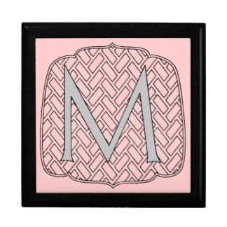 Initial M Ceramic Tile Gift Box
