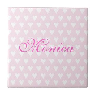 Initial M girls name customizable tile trivet