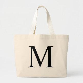 Initial M Jumbo Tote Bag