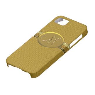Initial M Printed Metallic Gold iPhone 5 Case