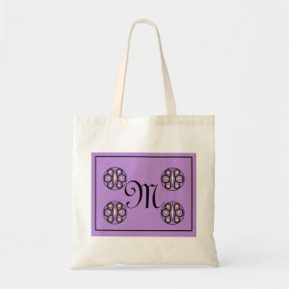 "Initial ""M"" tote Canvas Bag"