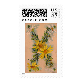 Initial Monogram Letter X Stamps