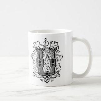Initial Mug - Letter 'U'