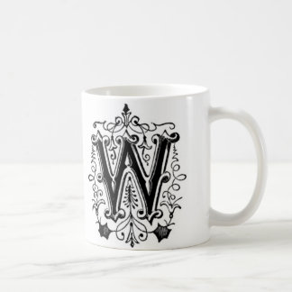 Initial Mug - Letter 'W'