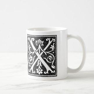 Initial Mug - Letter 'X'