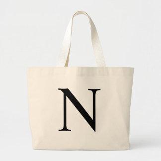 Initial N Jumbo Tote Bag