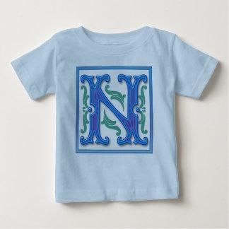 Initial N - Letter N Baby T-Shirt