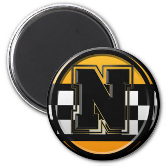 Initial N taxi driver 2 Inch Round Magnet