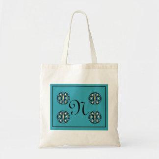 "Initial ""N"" tote Canvas Bags"