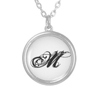 Initial Necklace 'M'