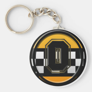 Initial O taxi driver Keychain