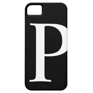 Initial P iPhone 5 Barely There Case iPhone 5 Case