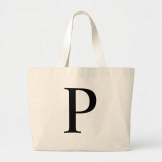 Initial P Jumbo Tote Bag
