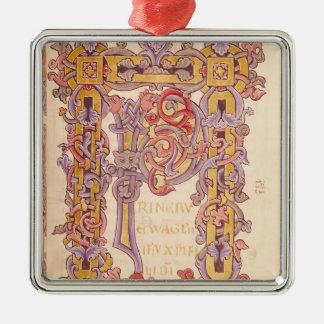 Initial 'P' Metal Ornament