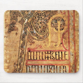 Initial page from the Lichfield Gospels, c.720 Mouse Pad