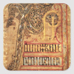 Initial page from the Lichfield Gospels, c.720 Square Sticker
