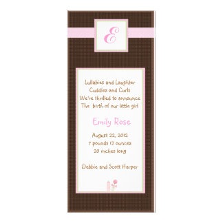 Initial Pink Personalized Invites