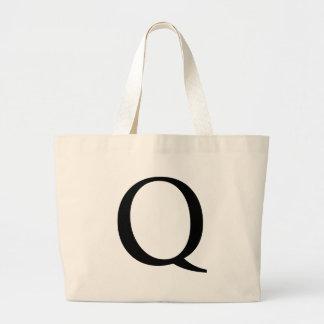 Initial Q Jumbo Tote Bag