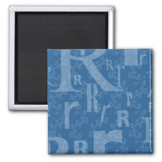 Initial R 2 Inch Square Magnet