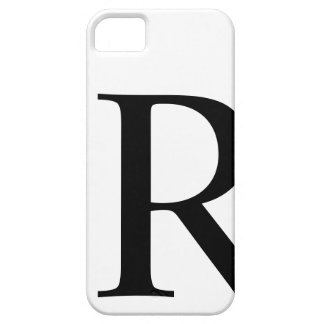 Initial R iPhone 5 Barely There Case iPhone 5 Case