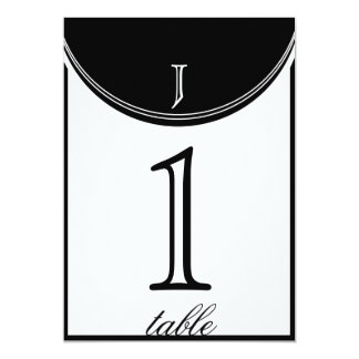 Initial Reaction Monogram Anniversary Table Number 5x7 Paper Invitation Card