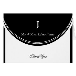 Initial Reaction Monogram Anniversary Thank You Card