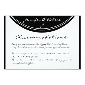 Initial Reaction: Monogram Black and White Insert 3.5x5 Paper Invitation Card