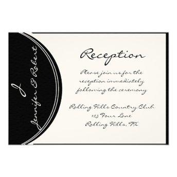 Initial Reaction:  Monogram in Black and White Invites
