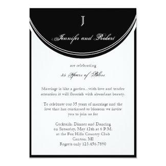 Initial Reaction Monogram Wedding Anniversary Card