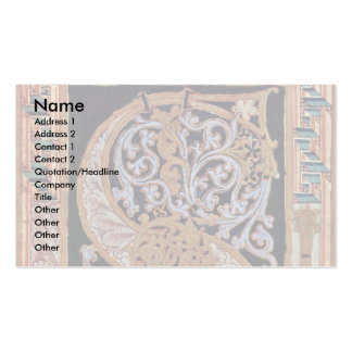 Initial S By Meister Des Gero-Codex (Best Quality) Double-Sided Standard Business Cards (Pack Of 100)