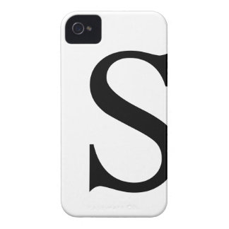 Initial S iPhone 4/4S Barely There Case iPhone 4 Case-Mate Case