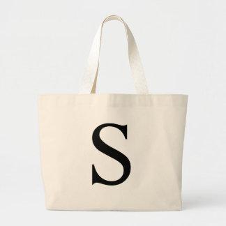 Initial S Jumbo Tote Bag