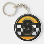 Initial S taxi driver Basic Round Button Keychain