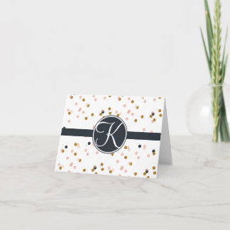 Initial Stationary // Folded Note Card
