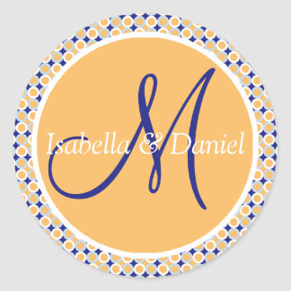 Initial Stickers Custom Wedding Monograms