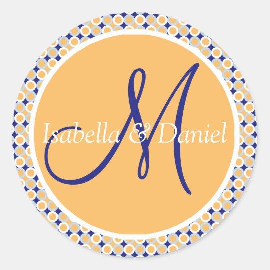 Initial Stickers Custom Wedding Monograms