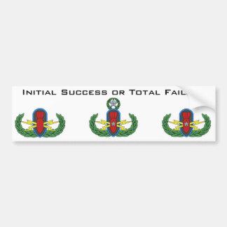 Initial Success or Total Failure Bumper Sticker Car Bumper Sticker
