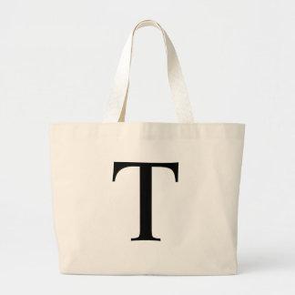 Initial T Jumbo Tote Bag