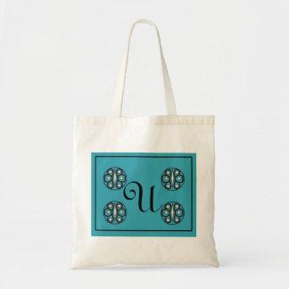 "Initial ""U"" tote Canvas Bags"