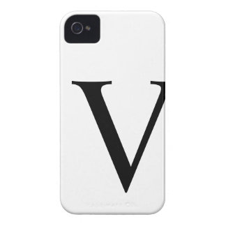 Initial V iPhone 4/4S Barely There Case Case-Mate iPhone 4 Cases