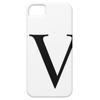 Initial V iPhone 5 Barely There Case iPhone 5 Case