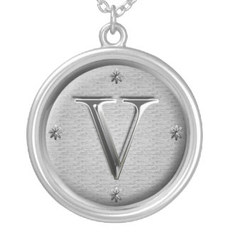 initial V necklace