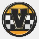 Initial V taxi driver Sticker