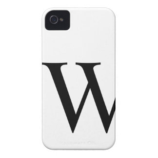 Initial W iPhone 4/4S Barely There Case Case-Mate iPhone 4 Case