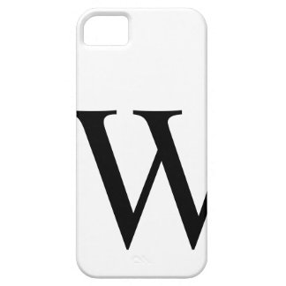 Initial W iPhone 5 Barely There Case iPhone 5 Cover