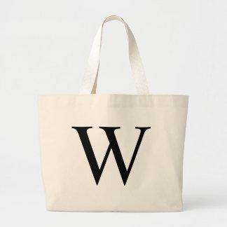 Initial W Jumbo Tote Bag
