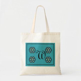 """Initial """"W"""" tote Canvas Bag"""