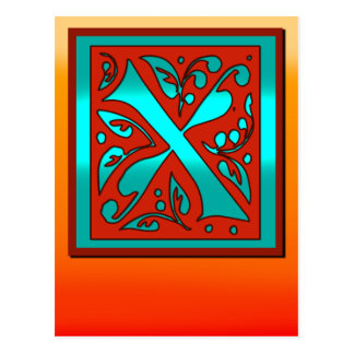 Initial X Southwestern Sunset Colors Card