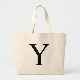 Initial Y Jumbo Tote Bag